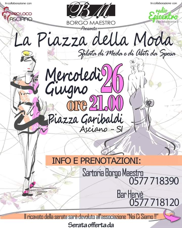 piazza della moda Asciano Siena
